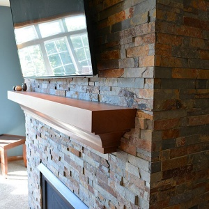 Basement Fireplace Update