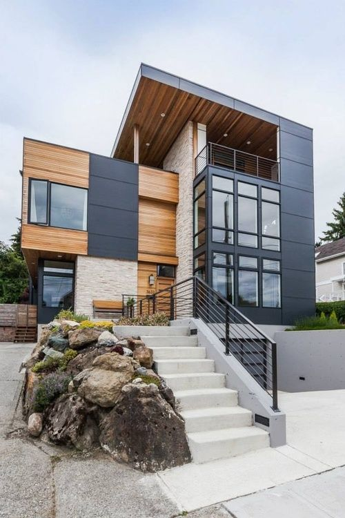 Contemporary Exterior Design Modern Wood Siding Modern House Exterior Elevation: 30 House Siding Ideas That Will Get You Ready For Spring