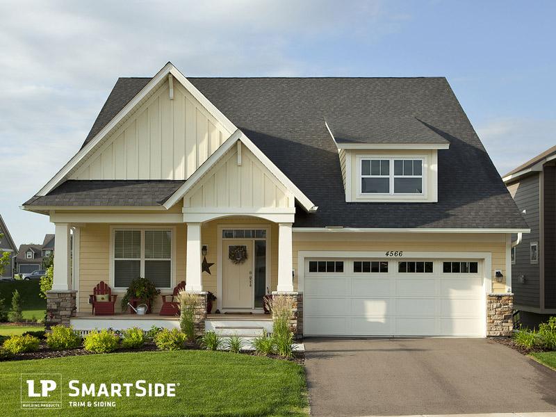 LP smartside siding on a house