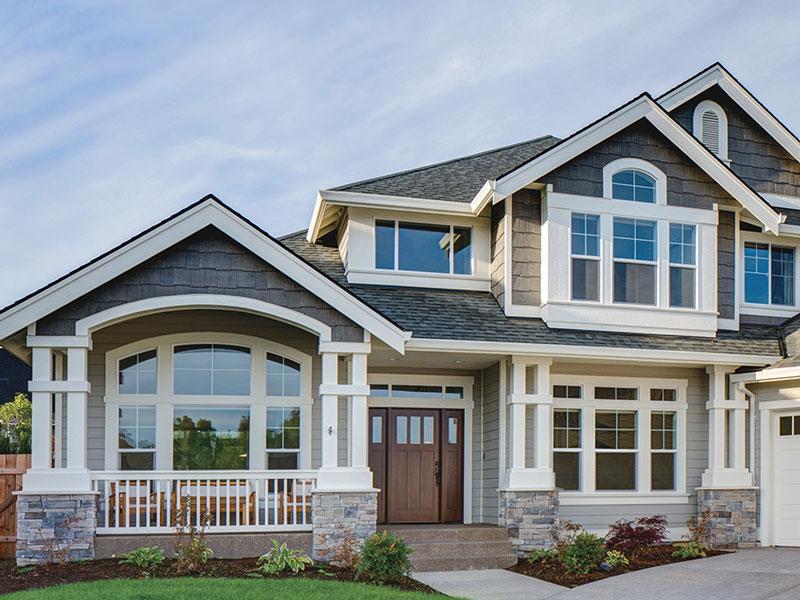LP smartside on a house