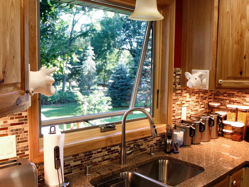 awning window in a kitchen