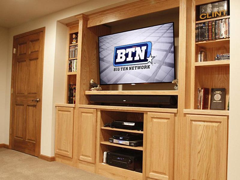 tv in a entertainment center