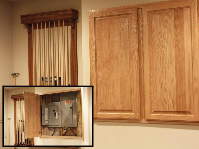 fuse box inside a cabinet