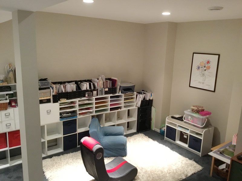 basement with files