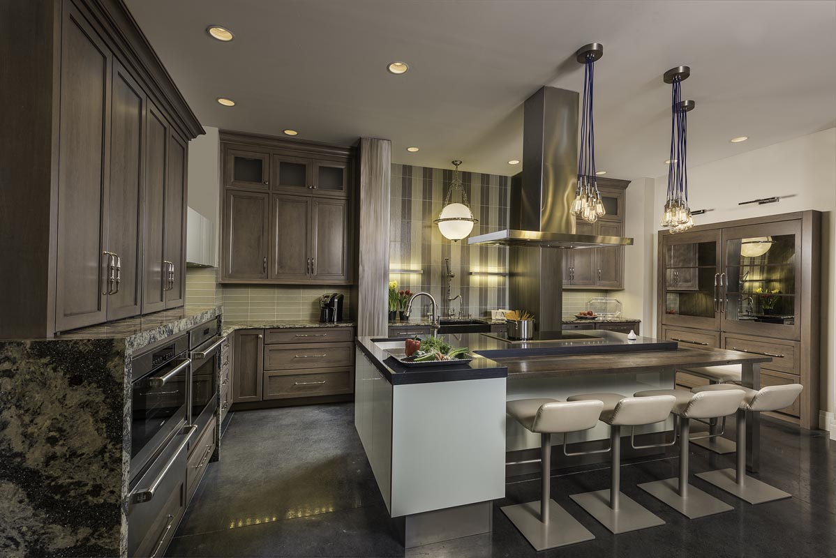 mouser cabinets in a modern kitchen